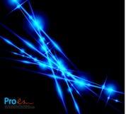 蓝色闪电摘要背景 免版税库存图片