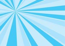 蓝色阳光背景 库存例证