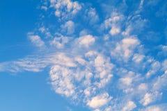 蓝色阴沉的天空有云彩美好的背景 库存图片