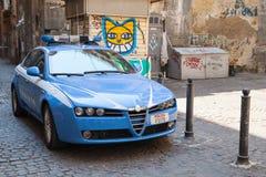 蓝色阿尔法・罗密欧159 免版税库存照片