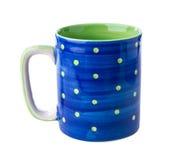 蓝色陶瓷杯子 图库摄影
