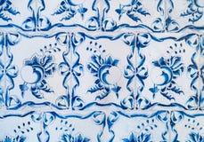 蓝色陶瓷砖装饰品样式 免版税库存图片