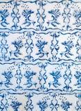 蓝色陶瓷砖装饰品样式 免版税图库摄影