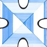 蓝色陶瓷砖 免版税图库摄影