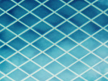 蓝色陶瓷砖 库存图片