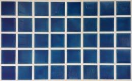 蓝色陶瓷砖 免版税库存照片
