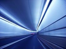 蓝色隧道 库存照片