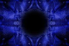 蓝色难看的东西音乐报告人背景 免版税库存图片