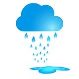 蓝色雨云传染媒介例证 向量例证