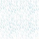 蓝色雨水的无缝的样式在白色下降 免版税图库摄影