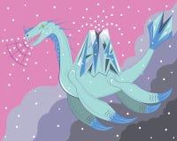 蓝色雪恐龙 免版税库存照片