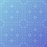 蓝色雪样式 库存例证