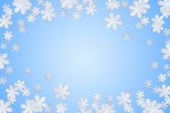 蓝色雪花冬天 免版税库存照片