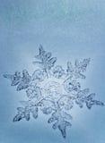 蓝色雪花口气 图库摄影