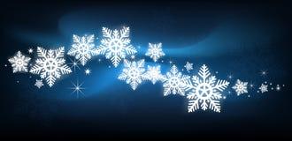 蓝色雪花圣诞节背景 免版税图库摄影