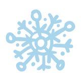 蓝色雪花手拉的被隔绝的象 图库摄影