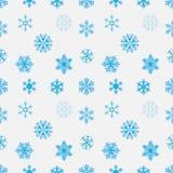蓝色雪花无缝的背景 向量 库存图片