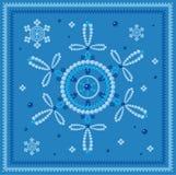 蓝色雪花的玻璃珠 免版税库存图片