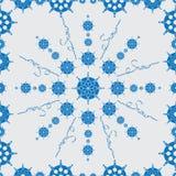 蓝色雪花 无缝的模式 库存照片
