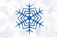 蓝色雪花 免版税库存照片