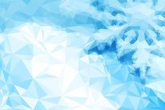 蓝色雪花 免版税库存图片