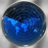 蓝色雷达世界 免版税库存图片