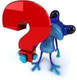 蓝色青蛙 库存照片