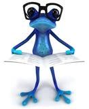 蓝色青蛙 图库摄影
