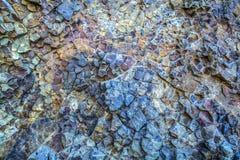 蓝色静脉岩浆tic石英岩石关闭 免版税图库摄影