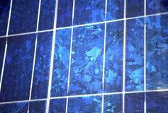 蓝色面板多晶太阳 免版税库存照片