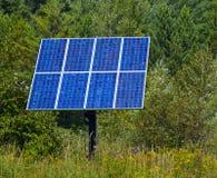 蓝色面板太阳森林 免版税库存图片