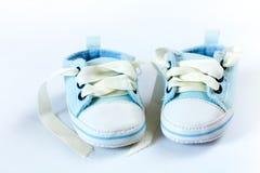 蓝色鞋子 免版税库存图片