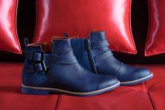 蓝色鞋子 图库摄影