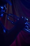 蓝色音乐家 库存图片