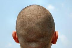 蓝色题头被刮的天空 图库摄影