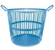 蓝色颜色塑料篮子 免版税库存图片