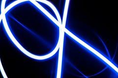 蓝色颜色抽象未来派背景  免版税库存照片