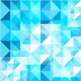 蓝色颜色摘要构造了减速火箭的样式多角形背景,创造性的设计模板 库存图片