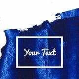 蓝色颜色油漆污迹传染媒介刷子冲程 油漆飞溅线 抽象形状丙烯酸酯的油漆 免版税库存照片