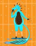 蓝色颜色独角兽从爱斯基摩人的 免版税库存图片