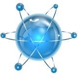 蓝色颜色球形  皇族释放例证