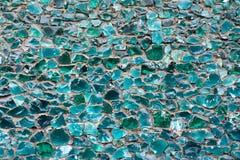 蓝色颜色绿色薄菏镶嵌构造 库存图片