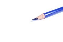 蓝色颜色铅笔 库存图片
