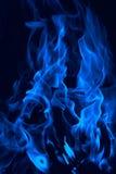 蓝色颜色黑暗的火传统化了 免版税库存图片