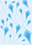 蓝色风筝墙纸 免版税库存照片