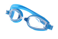 蓝色风镜现代游泳 免版税库存图片