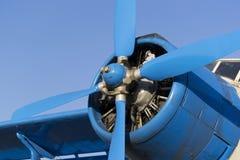 蓝色飞机推进器 免版税库存照片