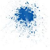 蓝色飞溅水彩 库存照片