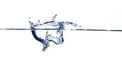 蓝色飞溅水 免版税库存图片