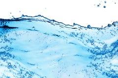 蓝色飞溅水 免版税图库摄影